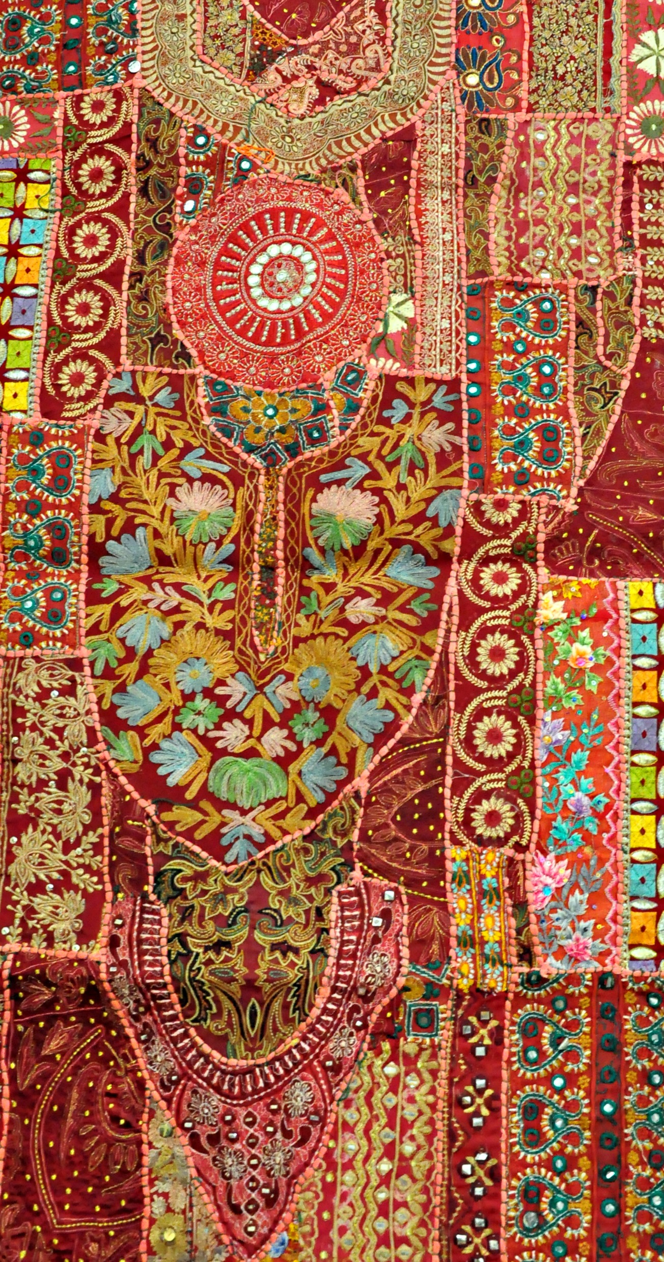 Fall Patterns Wallpaper Indian Vintage Handmade Patchwork Tapestry Wall Hanging