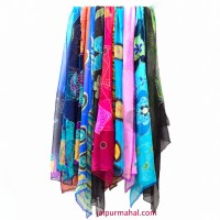 Hand Painted Silk Scarf | jaipurmahal.com