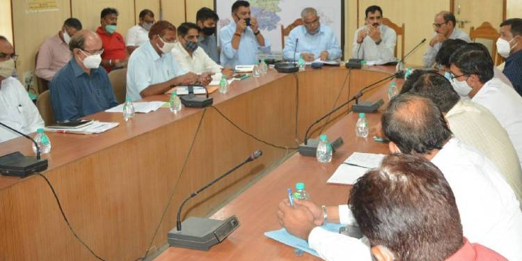 Review meeting of preparations for 'administration villages sang abhiyan' meeting