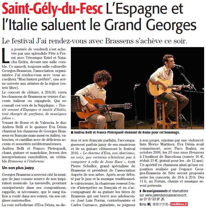 Midi-Libre du 11 novembre 2016