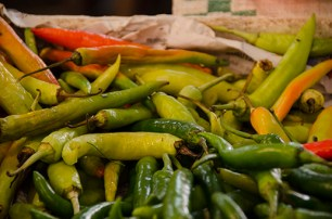 Piments - marché de Lampang