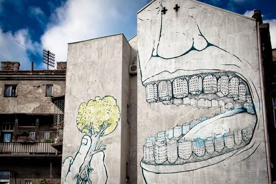 Street Art par Blu - Jaiuneouverture