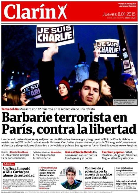 Clarin - Argentine - Je suis Charlie