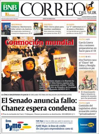 Correo Sur - Bolivie - Je suis Charlie