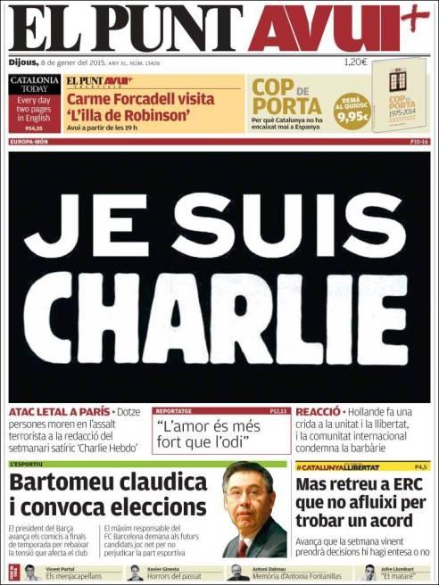 El Punt Avui - Catalogne - Espagne - Je suis Charlie