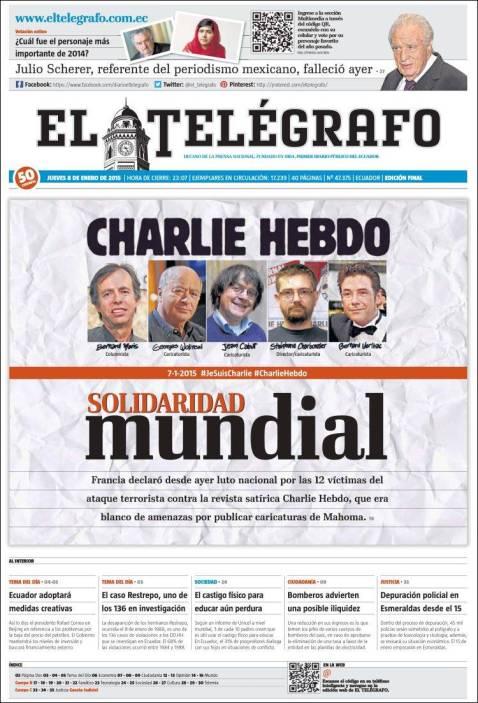 El Telegrafo - Equateur - Je suis Charlie