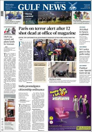 Gulf News - Emirats Arabes Unis - Nous sommes Charlie
