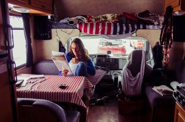 Heidi dans sa caravane - USA