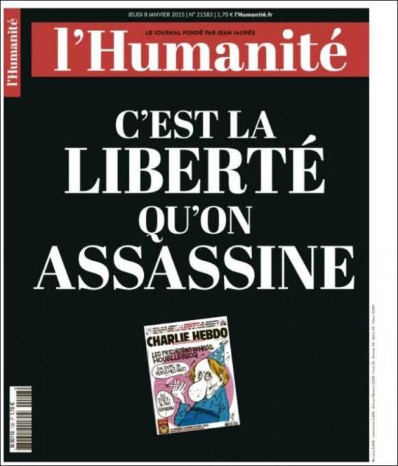 L'Humanité - France - Je suis Charlie