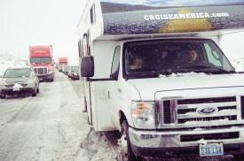 Pneus neige - Entre Flagstaff et Kingman le 31 décembre 2014 - USA