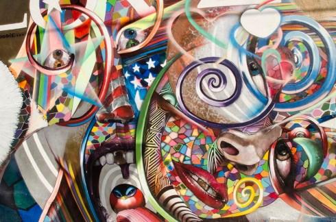 Un peinture à Miami, dans le quartier de Wynwood