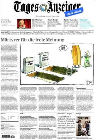 Tages-Anzeiger - Suisse - Je suis Charlie