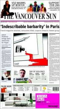 The Vancouver Sun - Canada - Je suis Charlie