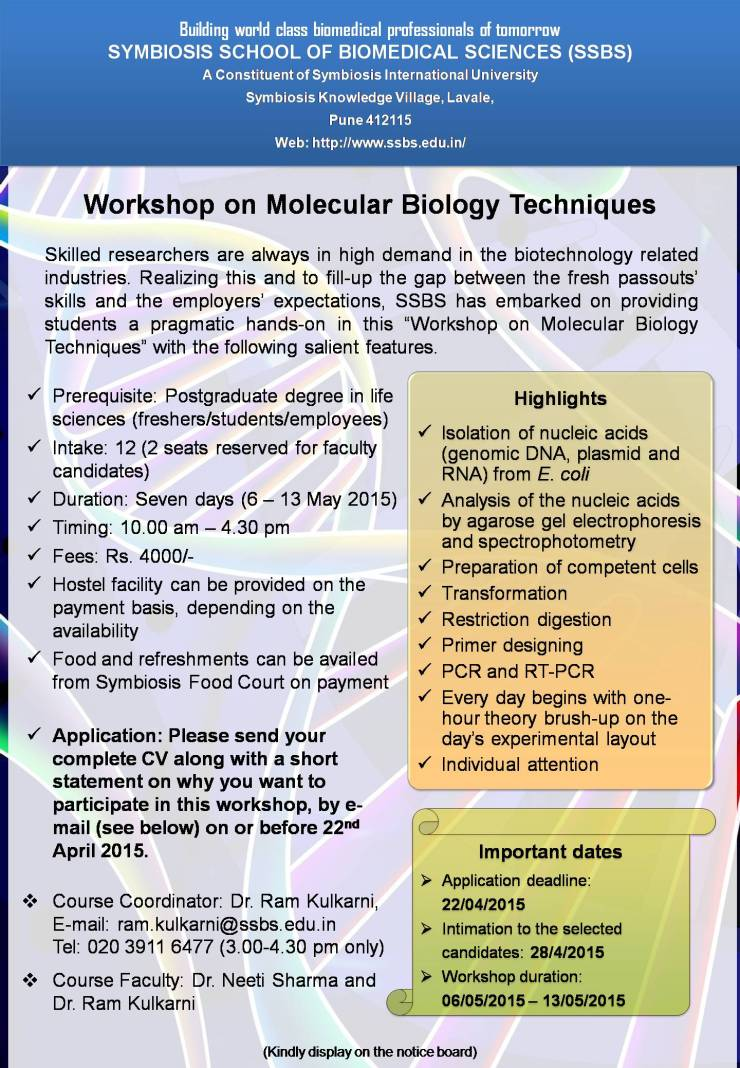 Workshop-on-Molecular-Biology-Techniques