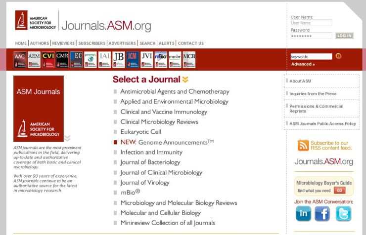 ASM_major_Journals
