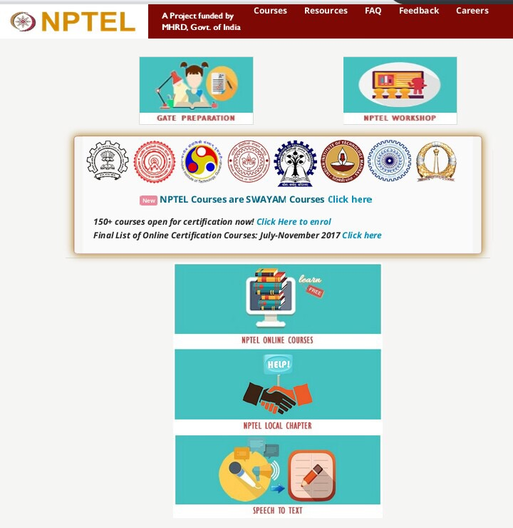 Online certification courses from NPTEL to be offered between July ...