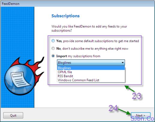 FeedDemon - Subscriptions