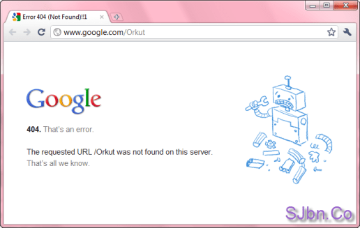 Error 404 - The requested URL Orkut was not found on this server.