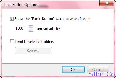 FeedDemon Panic Button Options