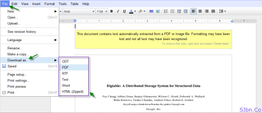 File -- Download as -- and select the file format in which you want to downloaded