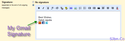 My Gmail Signature