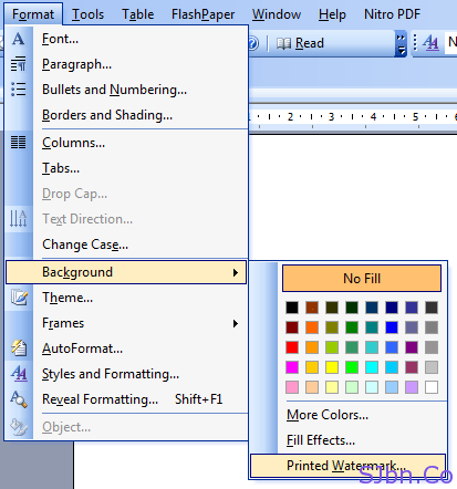 Microsoft Office 2003 - Layout -- Watermark -- Custom Watermark…