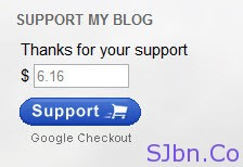 Google Checkout Support Button On Blogger.com