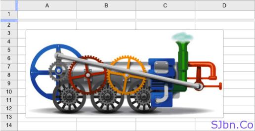 Google logo in Google Docs Spreadsheets