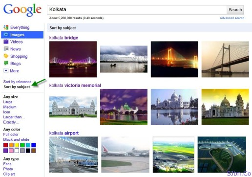 Sort by subject of Google Images search for Kolata