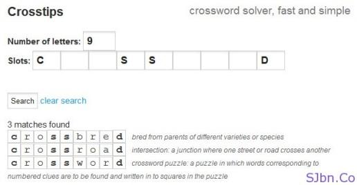 Crosstips - crossword