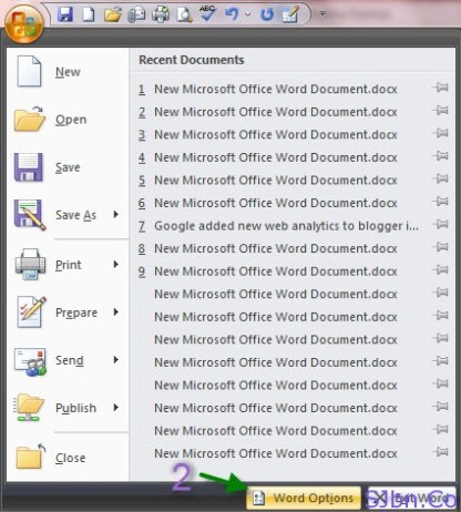 Office icon -- Options