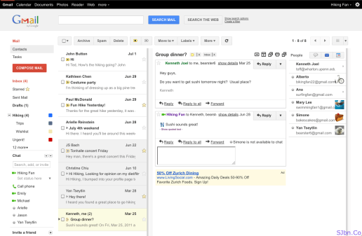 Preview Pane in Gmail