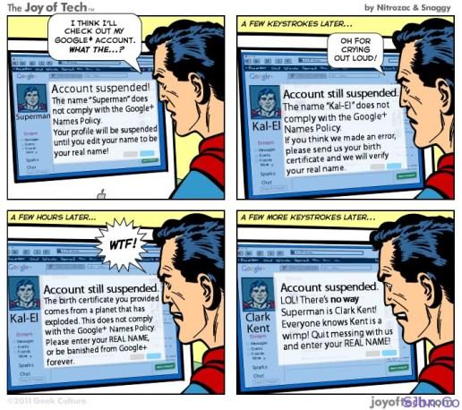 Superman Vs. Google+ (Plus)