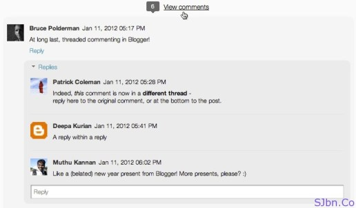 Blogger New Threaded Comments System