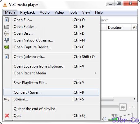 VLC - Media -- Convert-Save
