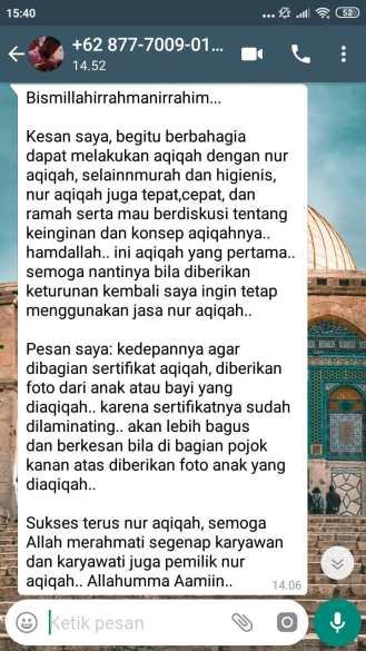 Rekomendasi Aqiqah di Jakarta Selatan yang murah