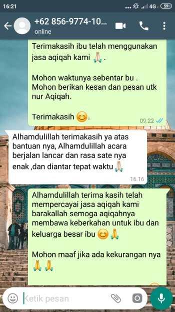 Paket Aqiqah Daerah Jakarta Selatan enak
