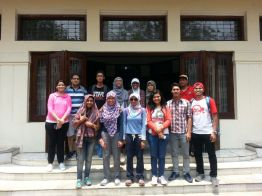 Group 2 in front of the house of Nasution.
