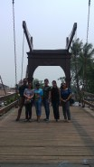 Ruby & husband from The Phillipines (left) and Yayuk & her friends from Indonesia on the Dutch drawbridge in Kota Tua.