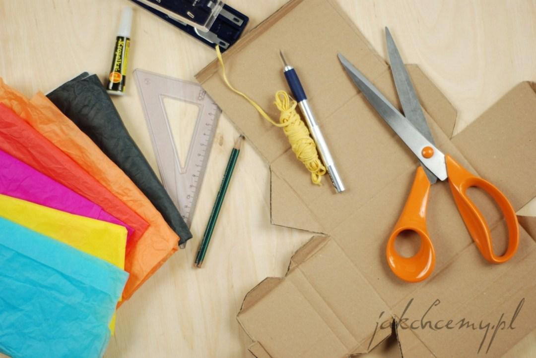 lampion adwentowy zestaw materiałów i narzędzi