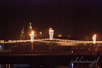 krakowski most dębnicki na święta