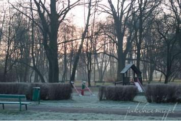 poranek oszroniony park krk