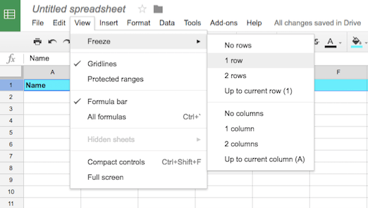 Adding a Header Row in Google Sheets – Jake Ludington