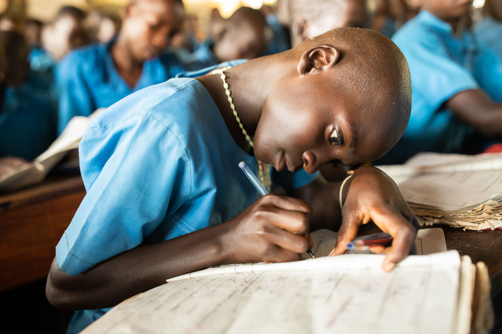 Vivian (12) learns in an elementary school constructed by ChildFund in Kaberamaido District, Uganda.