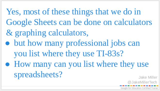 Why use Google Sheets?