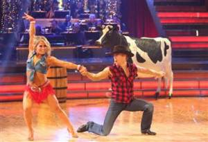 Shawn Johnson and Derek Hough Country Western week