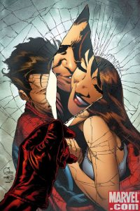"Spider-Man and Mary Jane's marriage paid the ultimate price at the end of ""One More Day."" (Artwork by Joe Quesada & Property of Marvel Comics)"