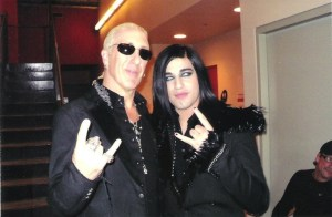 Before he was eliminated from the show, Andrew met one of his musical influences: Dee Snider.  (Photo courtesy of Andrew De Leon)