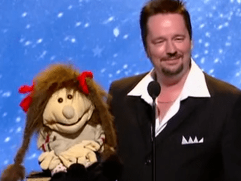 Terry Fator and longtime friend Emma Taylor surprised everyone with their audition in the show's sophomore season. (Photo property of NBC and SYCO-TV)