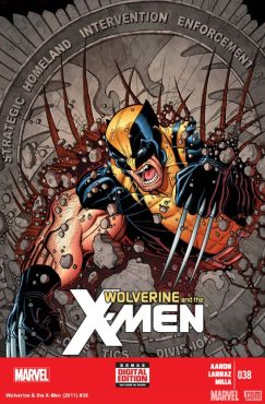 "Wolverine targets S.H.I.E.L.D. in the latest edition of ""Wolverine & The X-Men."" (Cover property of Marvel Comics)"